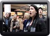 Christmas Flash Mob by Journey of Faith at South Bay Galleria.